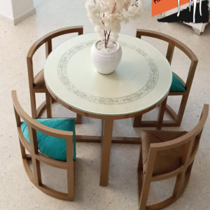 """Table """"Intelligente"""" rond 4 chaises Meuble Tunisie"""