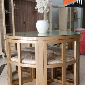 """Table """"Intelligente"""" rond 6 chaises Meuble Tunisie"""